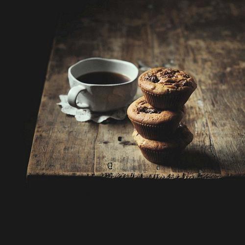 Straight black coffee & cookies...simple, hard to beat!