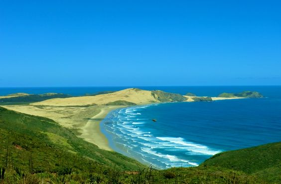 Cape Reinga, New Zealand he most spiritual significant place in Maori tradition and mythology. The cape is where the Tasman Sea meets the Pacific Ocean is known as the place Maori spirits descend into the underworld.