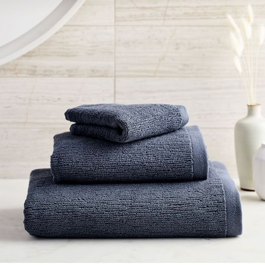 Organic Luxe Fibrosoft 8482 Towels Gray Dusk Melange With