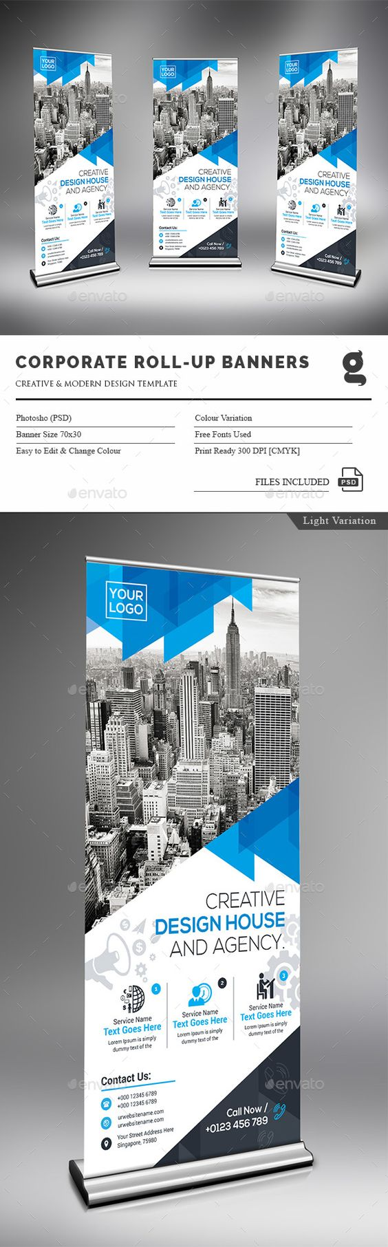 Corporate Rollup Banner Template PSD. Download here: http://graphicriver.net/item/corporate-rollup-banner/15587923?ref=ksioks