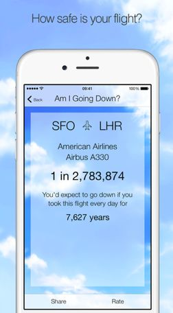 Worst app ever calculates odds that your plane will crash