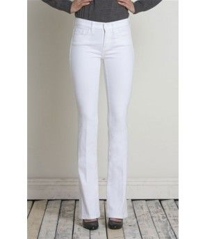 Henry & Belle Micro Flare - White - The Blues Jean Bar, the Best ...