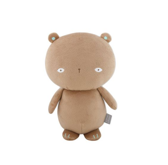 #Brown #bear #plush with #beanbag inside by #ethelchow