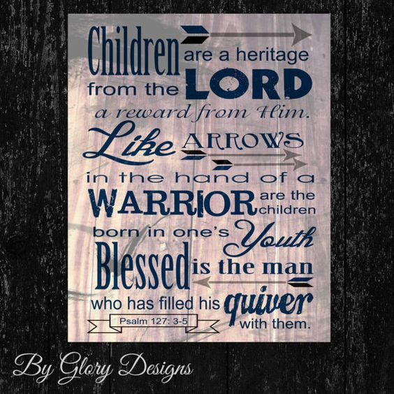 Bible Verse, Father's Day Gift, Scripture Art, Psalm 127:3