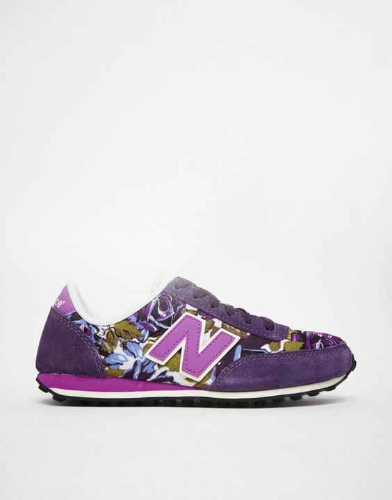 new balance 410 purple floral suede