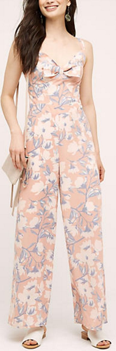 Bowed Peach Jumpsuit