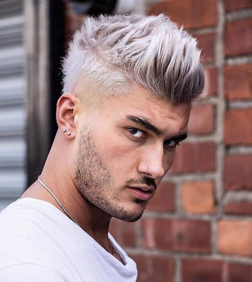 50 Impressive Spiky Hairstyles For Men Spiky Hair Hairmanz In 2021 Fade Haircut Taper Fade Haircut Mens Haircuts Thick Hair