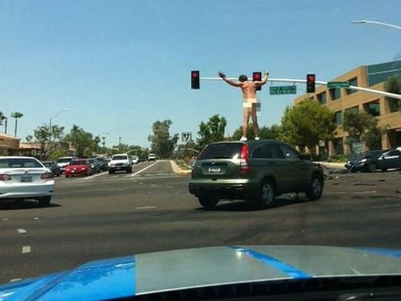 Naked carjacker in scottsdale, Arizona  LOL !!!! it was just one of those days i guess !!!!