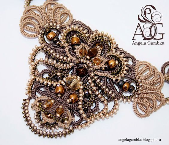 By Angela Gambka ~ WoW! Looks like Ankers tatting.
