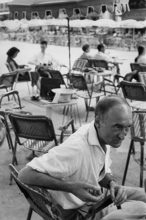 French actor, scenographer, and founder of the Avignon Theater Festival, Jean Vilar; Avignon, Vaucluse (Henri Cartier-Bresson, 1959)