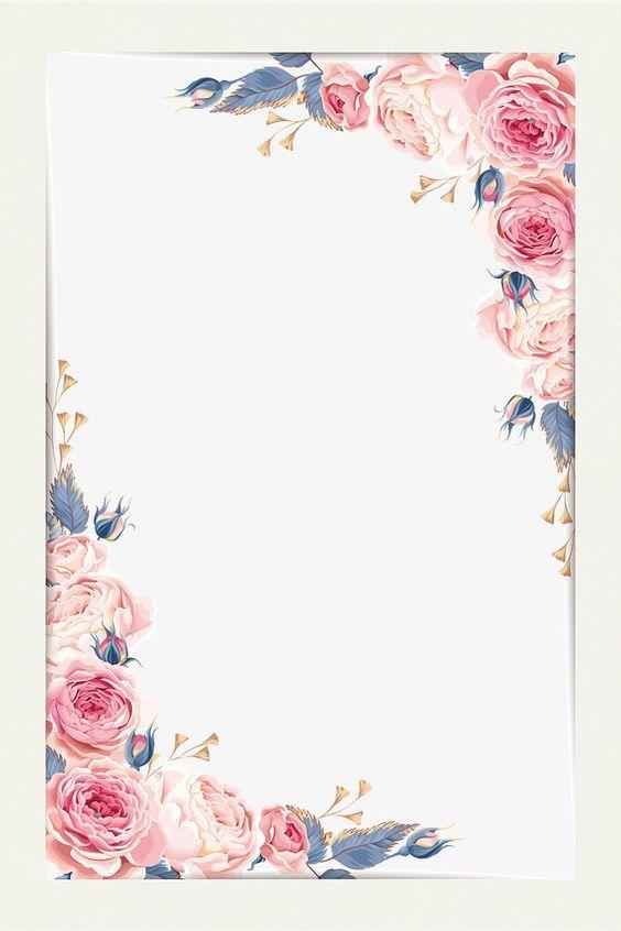 Beautiful Little Fresh Border Vector Material Free Png And Vector Floral Border Design Flower Border Flower Background Wallpaper