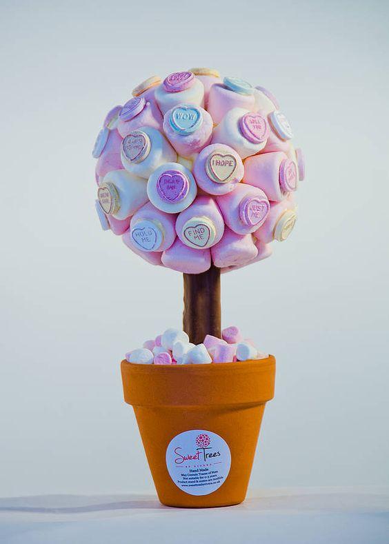 Marshmallow Love Heart Sweet Tree by Rivera