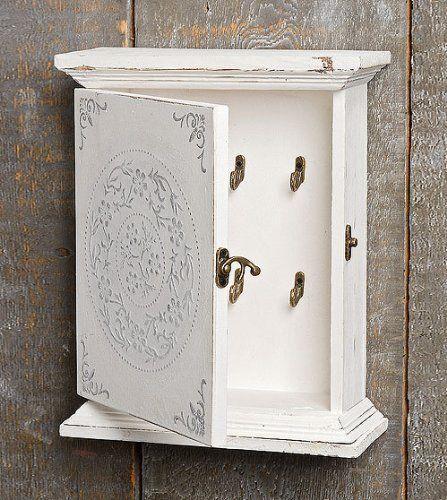Schlüsselkasten Schlüsseltresor Schlusselschrank antik weiß Holz 1812-4201700 von zeitzone, http://www.amazon.de/dp/B00CP2ZMNG/ref=cm_sw_r_pi_dp_RsM4sb1TV4VF5