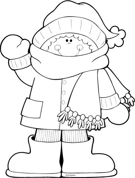 winter boy coloring pages - photo#9