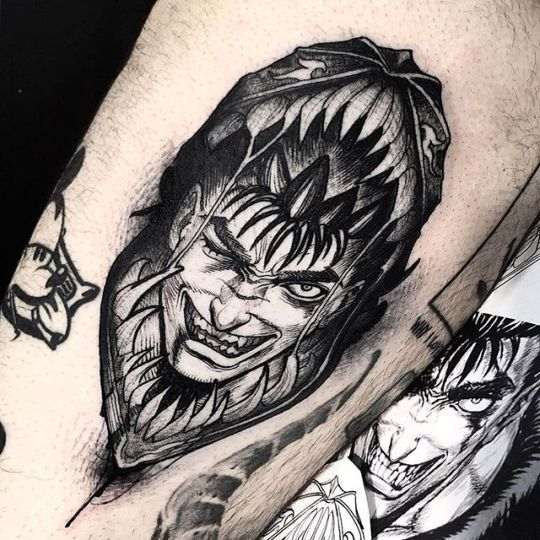 Electrictattoos Anime Tattoos Berserker Tattoo Tattoos