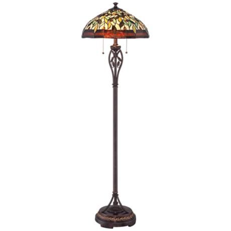 Leaf And Vine Ii Tiffany Style Floor Lamp Products