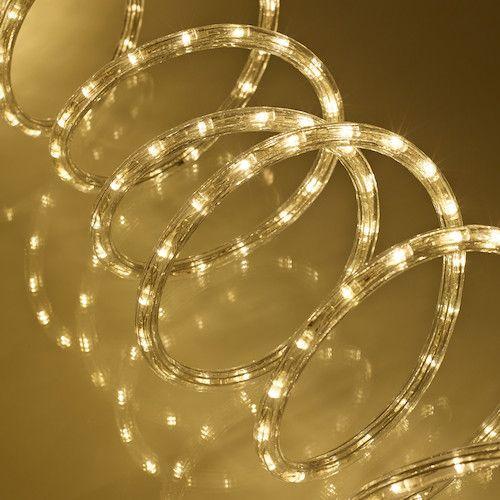 8m Warm White Led Rope Light Led Rope Lights Christmas Lights