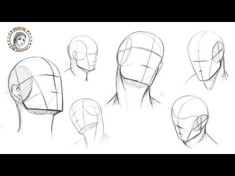Draw The Head In Different Positions رسم الرأس في أوضاع مختلفة Youtube Realistic Drawings Pencil Drawings Drawings
