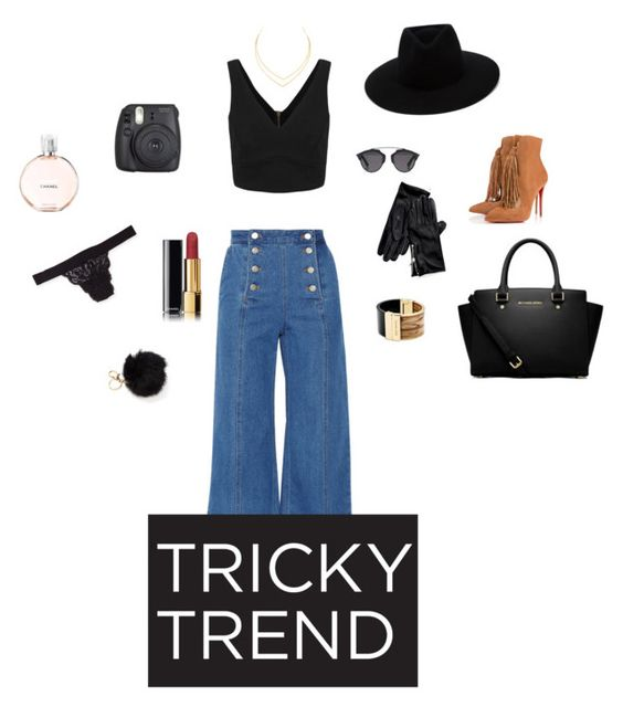 """#trickytrend"" by melanieshort ❤ liked on Polyvore featuring Christian Louboutin, Cosabella, Lana, Steve J & Yoni P, MICHAEL Michael Kors, Michael Kors, Christian Dior, rag & bone, Chanel and Tommy Hilfiger"