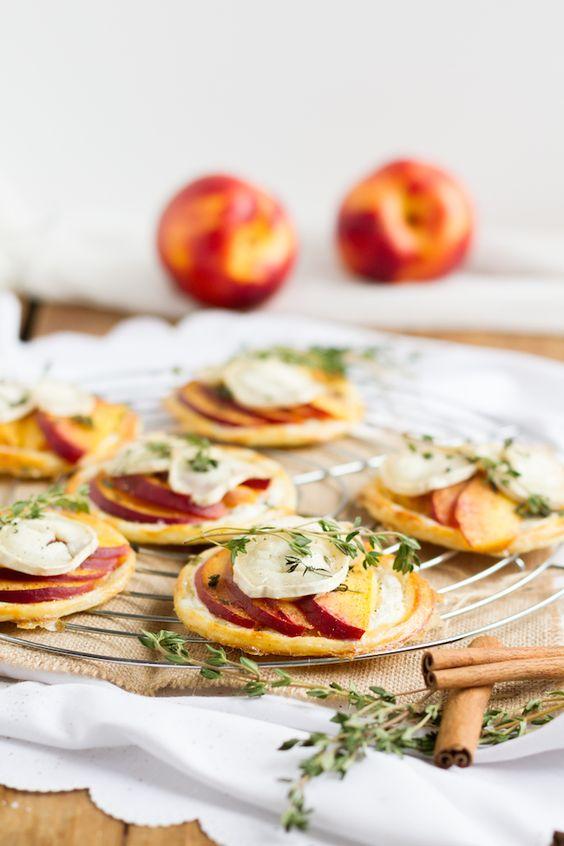 haseimglueck.de Rezept, Blätterteig Tartelettes mit Nektarine Ziegenkäse 9