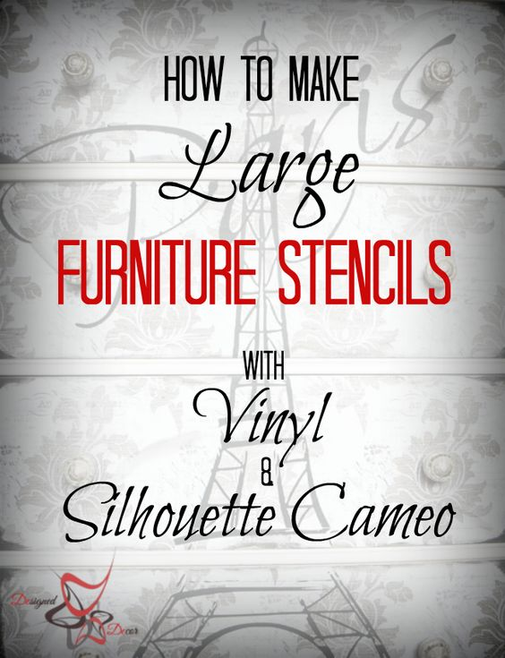 How to make large furniture stencils with Silhouette Cameo- DIY-