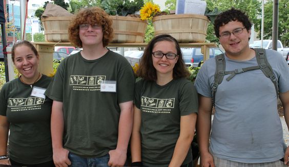 Four of six youth farmers in the 2013 program. A wonderful group of young people!