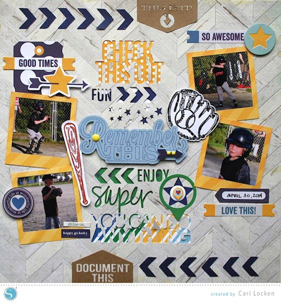 Remember This Scrapbook Layout by Cari Locken for Silhouette