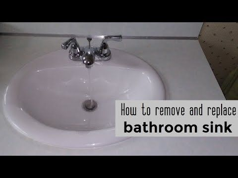 How To Remove And Replace A Bathroom Sink Diy Big Al Repairs Bathroom Sink Diy Replace Bathroom Sink Bathroom Sink
