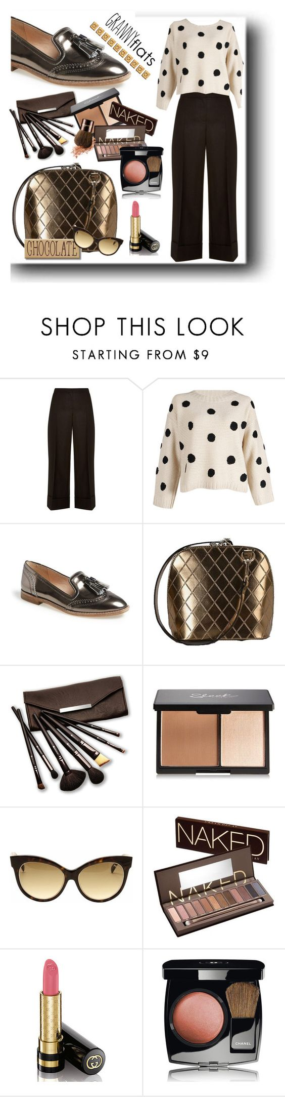 """Cute Trend: Granny Flats"" by jesslea85 ❤ liked on Polyvore featuring The Row, Louise et Cie, Borghese, Emilio Pucci, Urban Decay, Gucci, Chanel, women's clothing, women's fashion and women"