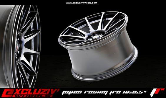 """Jante Japan Racing JR11 18x9.5"""" série concave, Noir mat."""