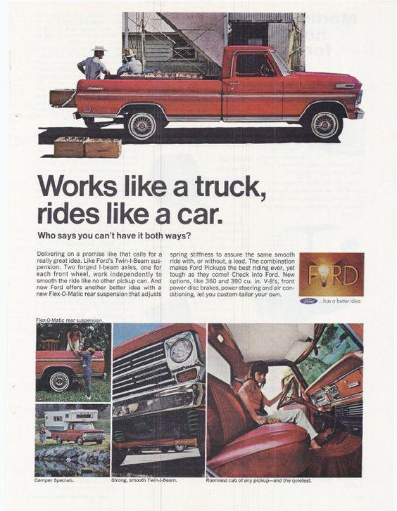 #outdoor #vintage #auto #1970s #advertising #magazine #retro #fashion #style #retro #paper #ephemera #tailgate #USA #roadtrip #etsy #forsale #salesman #collectible #decor #salesman #truck #pickup #work #ford #work #dairyfarm #vacation #red