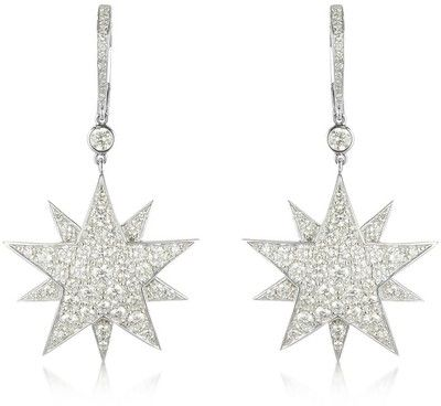 Colucci Diamonds 3.73 ctw White Gold Diamond Star Earrings