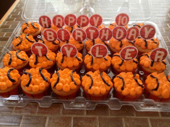 Baketball Birthday Cupcakes