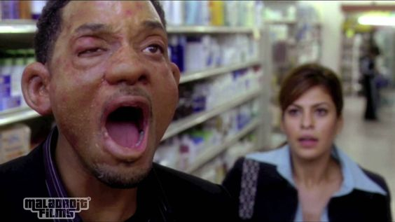 Will Smith's allergy to seafood scares Eva Mendes. HITCH _ 2005
