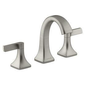 Kohler Maxton Brushed Nickel 2 Handle Widespread Watersense Bathroom Sink Faucet With Drain R22477 4 Waschbecken Armaturen Badezimmer Waschbecken Armaturen Bad