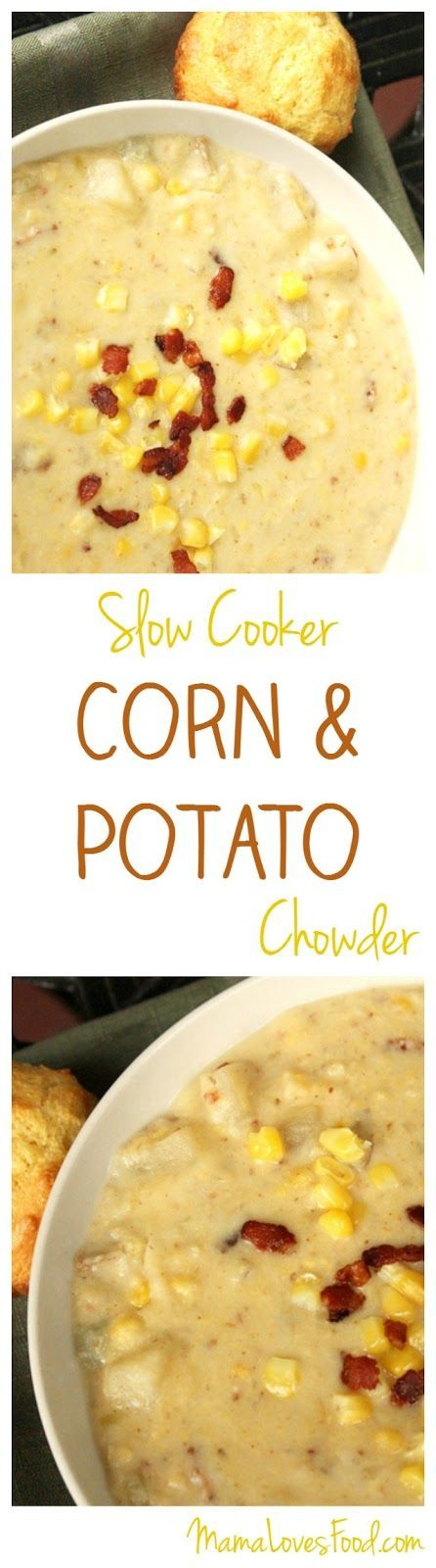 Corn and Potato Chowder Recipe for the Crock Pot Slow Cooker