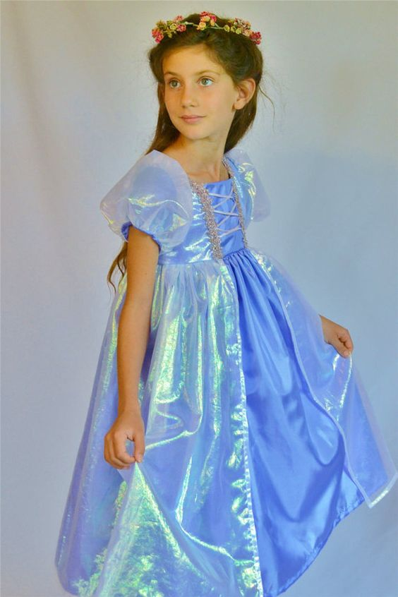 Girl's Fairy Princess Dress by bonnybluearts on Etsy, $75.00