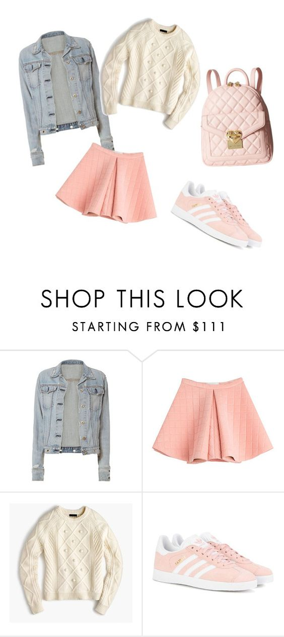 """""""Style #24"""" by saric-fahreta ❤ liked on Polyvore featuring rag & bone, Marina Hoermanseder, J.Crew, adidas Originals and Love Moschino"""