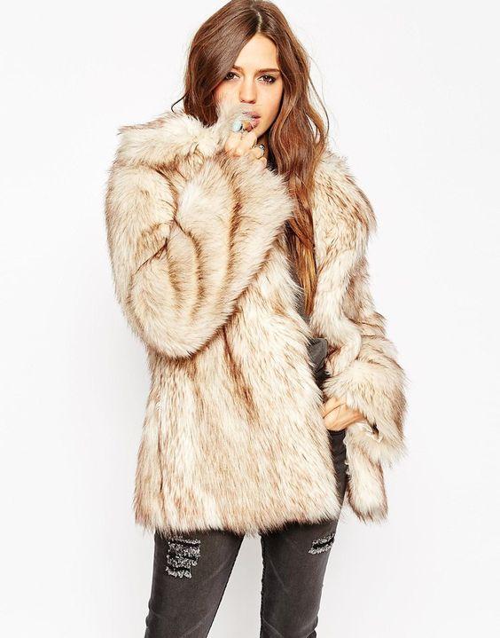 Fur Coat Faux bKphjL