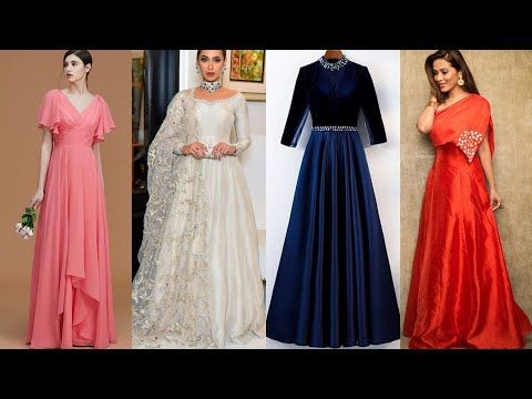 All New Plain Gown Designs 2020 Simple Gown Ideas From Plain Fabric Long Dress Designs Youtube In 2020 Long Dress Design Simple Gowns Stylish Gown
