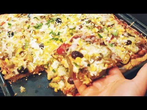 وداعا للحيرة اسرع بيتزا 10د بدون اختمارلذيذة وجبة عشاء سريعة مكوناتها في مطبخك Pizza Rapide Youtube Food Pizza Vegetable Pizza