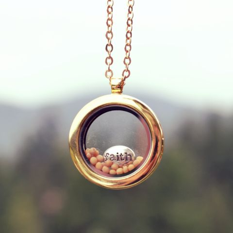 Mustard Seed Faith locket: