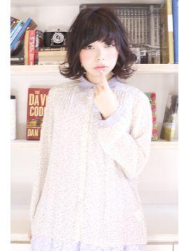 ローレン LAURENLAUREN★ドールフェミニン黒髪セミディスタイル tel0112328045