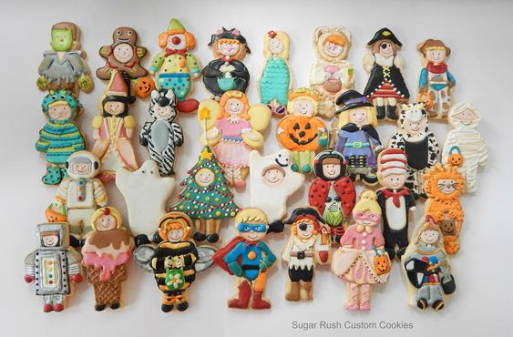 Halloween Trick or Treaters Costume Cookies http://cookieconnection.juliausher.com/