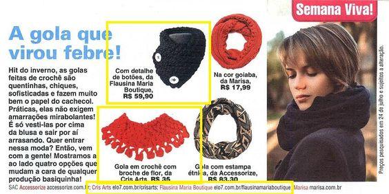 Cinco produtos da Elo7 foram publicados em três diferentes artigos da revista Viva Mais.