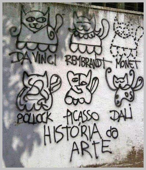 """Quem disse que não existe grafiteiro """"cult""""?!"""