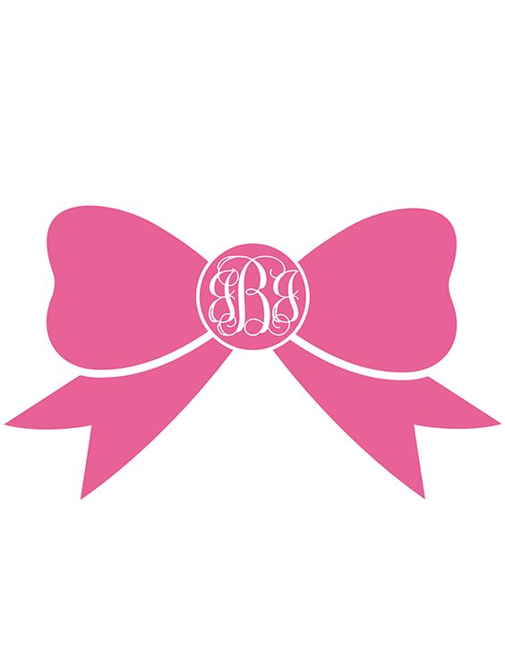 Free Printable Bow Monogram Maker from @chicfetti (in 12 different ...