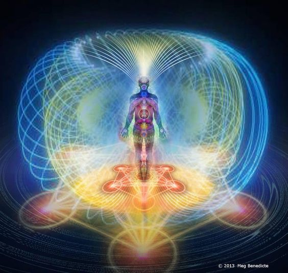 The toroidal energy field of the human body.