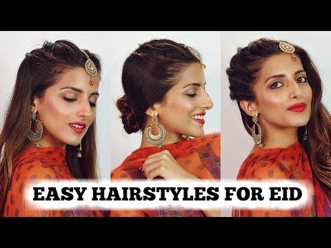 2 Min Easy Indian Hairstyles For Girls 2018 Eid Special Hairstyle For Medium To Long Hair Youtu Hair Styles Easy And Beautiful Hairstyles Indian Hairstyles