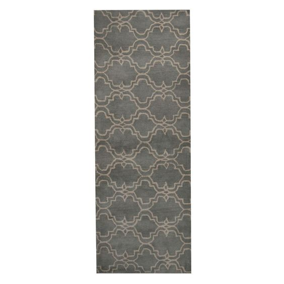 Herat Oriental Indo Hand-Tufted Tibetan Gray/ Ivory Rug